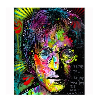 Colorful John Lennon Art By Dean Russo Pressed On Metal Wall Decor