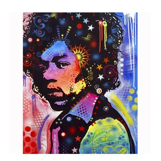 Colorful Jimi Hendrix Art By Dean Russo Pressed On Metal Wall Decor