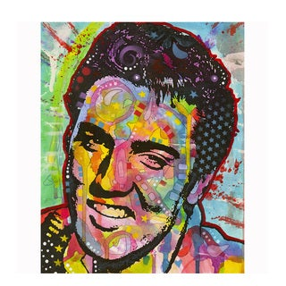 Colorful Elvis Presley Art By Dean Russo Pressed On Metal Wall Decor