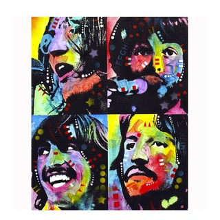 Colorful Beatles Art By Dean Russo Pressed On Metal Wall Decor