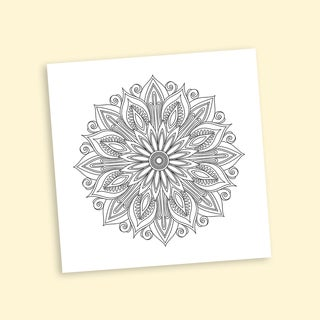 Deco Mandalas Coloring 20-inch Repositionable Wall Decal