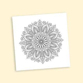 Deco Mandalas Coloring 16 x 16 Inches Repositionable Wall Decal