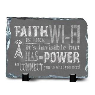 Faith Slate Wifi Wall Decor