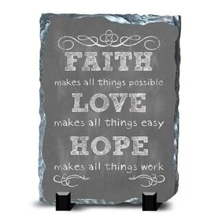 Faith Slate Hope Wall Decor