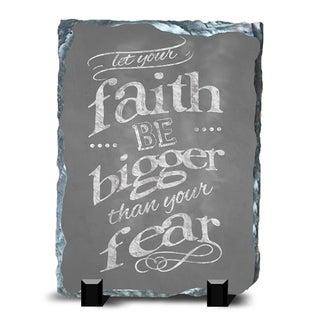 Faith Slate Fear Wall Decor