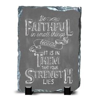 Faith Slate Faithful Wall Decor
