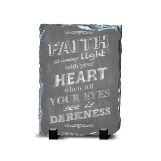 Faith Slate Darkness Wall Decor
