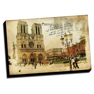 Paris France Captured On Canvas Print