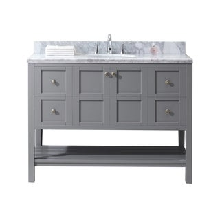 Virtu USA Winterfell 48-inch Single Bathroom Vanity Set in Grey