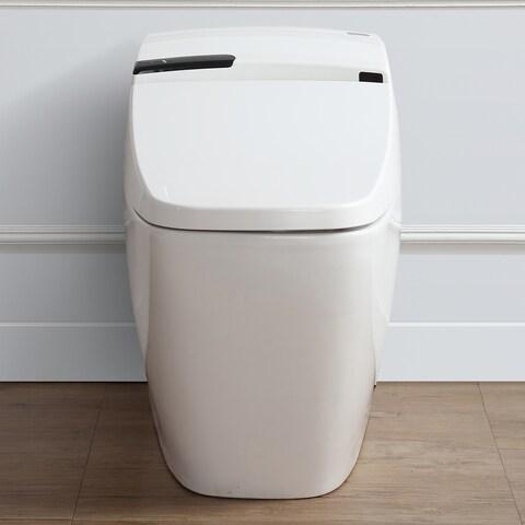 Ove Decors Bernard White 1.6 GPF Elongated Smart Toilet and Bidet