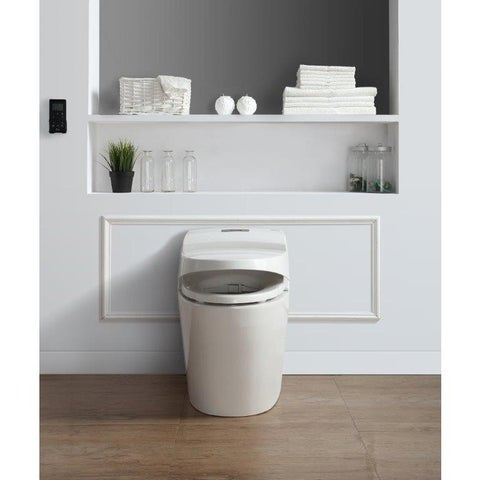 Ove Decors Godfrey White 1-piece 1.6 GPF Elongated Smart Toilet and Bidet