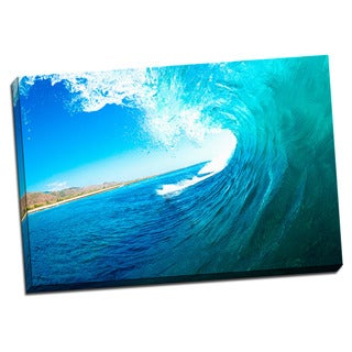 Tropical Places Collection Wave Wall Decor