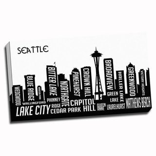 Seattle Wrapped Framed Canvas