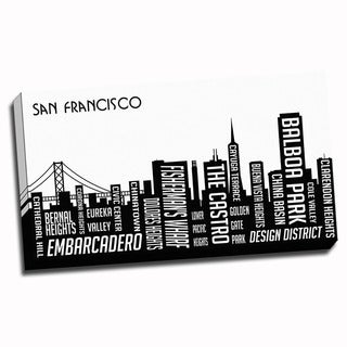 San Francisco Wrapped Framed Canvas