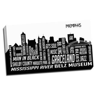 Memphis Wrapped Framed Canvas