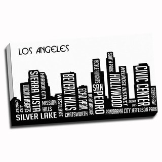 Los Angeles Wrapped Framed Canvas