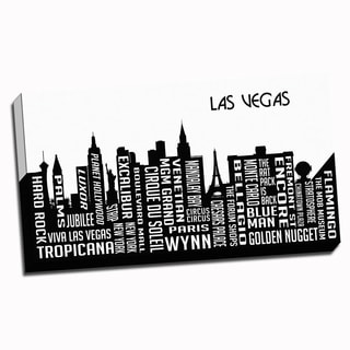 Las Vegas Wrapped Framed Canvas