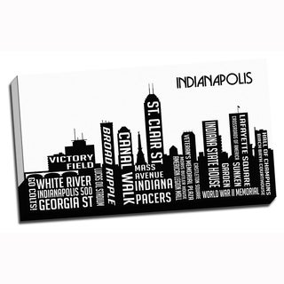 Indianapolis Wrapped Framed Canvas