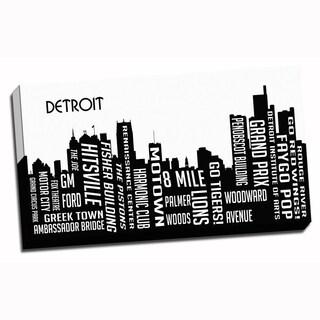 Detroit Wrapped Framed Canvas