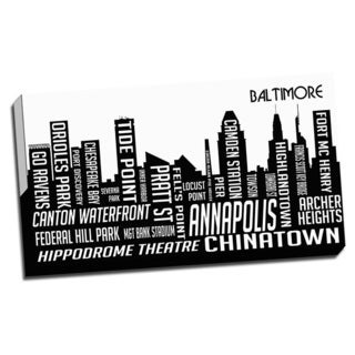 Baltimore Wrapped Framed Canvas