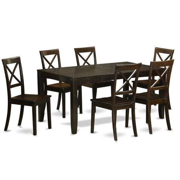 LYBO7-CAP 7-piece Kitchen Dining Table Set  sc 1 st  Overstock.com & LYBO7-CAP 7-piece Kitchen Dining Table Set - Free Shipping Today ...