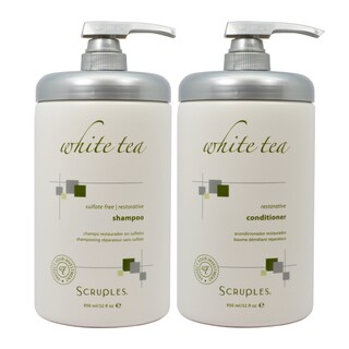 Scruples White Tea 32-ounce Sulfate-free Restorative Shampoo and Conditioner