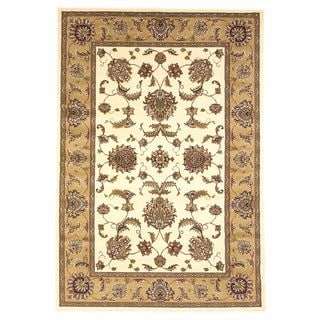 KAS Cambridge 7344 Ivory/Beige Bijar Off-white Polypropylene Round Rug (7'7)
