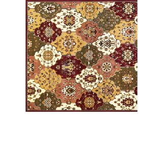 Cambridge 7352 Jeweltone Panel Round Rug (7'7)