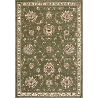 Cambridge 7356 Allover Green Polypropylene Mahal Rug (7'7 Round)