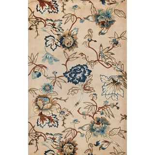 Catalina 0730 Serenity Ivory/Blue Wool and Cotton Hand-tufted Rug (5'6)