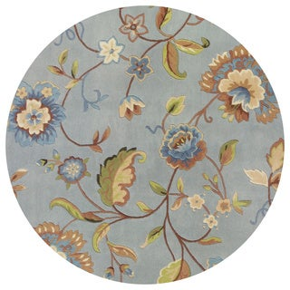 Emerald 9030 Blue Quincy Floral Round Rug (7'6)