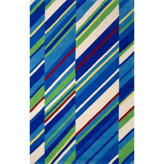 Kidding Around 0431 Sailing Stripes Rug (5' x 7'6)