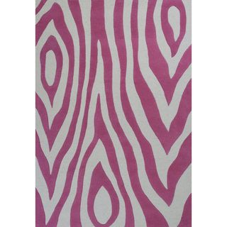 Kidding Around 0438 Pink Wild Side Rug (5' x 7'6)