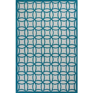 Kidding Around KID044033X53 Teal Kaleidocsope Rug (3'3 x 5'3)