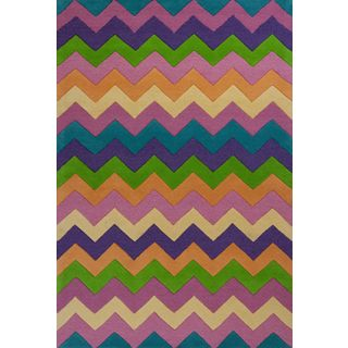 Kidding Around 0443 Chic Ziggy Zaggy Rug (3'3 x 5'3)