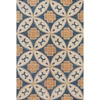 Milan Blue Mosaic Round Rug Round - 5'6