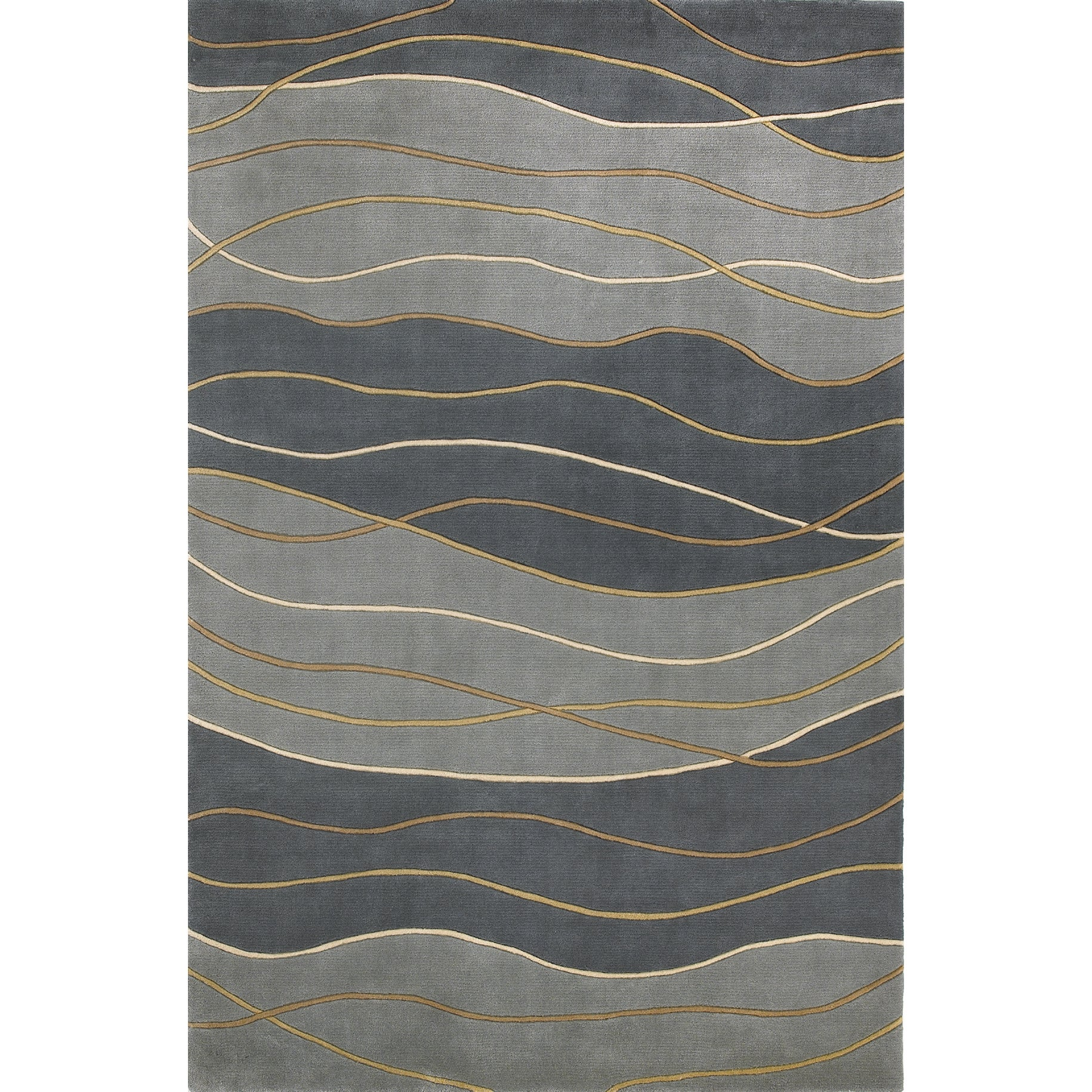 KAS Signature 9142 Seaside Waves Wool/Cotton Rug (7'6 Rou...