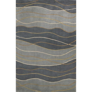 KAS Signature 9142 Seaside Waves Wool/Cotton Rug (7'6 Round)