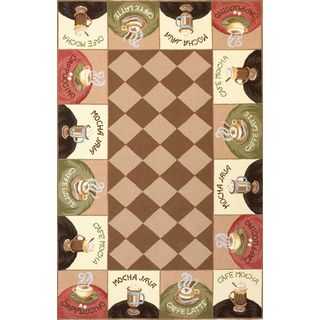 Colonial 1812 Coffee Wake-up Call Rug (2'6 x 4'6)