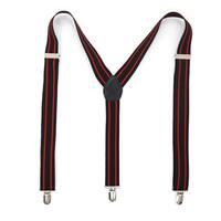 Ferrecci Stripe Polka Dot and Diamond Pattern Clip-on Suspenders