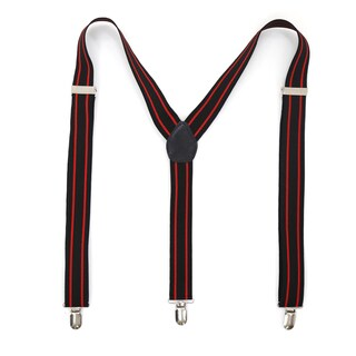 Ferrecci Stripe Polka Dot and Diamond Pattern Clip-on Suspenders