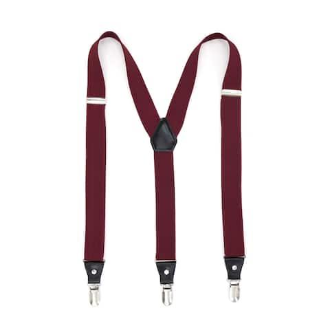 Ferrecci Unisex Solid Color Adjustable Clip-on Suspenders