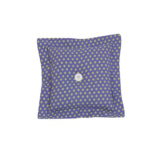 Cotton Tale Purple with Green Dots Cotton/Polyester 16-inch Square Throw Pillow