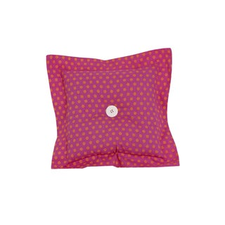 Cotton Tale Pink/Orange Polyester/Cotton 16-inch x 16-inch Dot Decor Throw Pillow