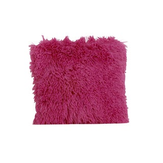 Cotton Tale Hot Pink Faux Fur Throw Pillow