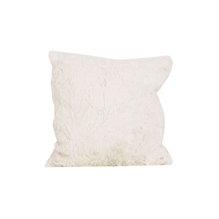 Faux Rabbit Fur Throw Pillow