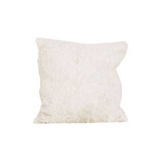 Cotton Tale Raspberry Dot Off-white Polyester/Faux Fur 16-inch x 16-inch Decor Throw Pillow