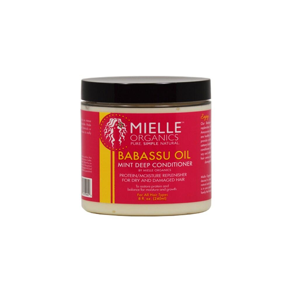 Mielle Organics Babassu Oil Mint (Green) Deep 8-ounce Con...
