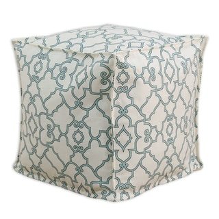 Windsor Capri Blue 12.5-inch Seamed Footstool