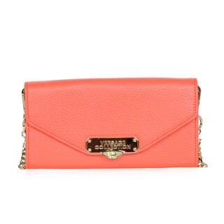 Versace Collection Orange Clutch/Shoulder Handbag